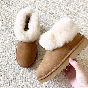 New Ugg Classic Mini Fluff Boots Chestnut